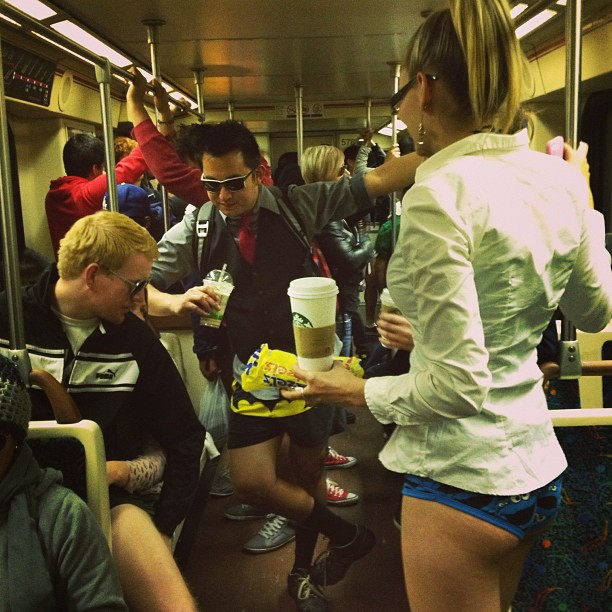 No Pants Subway Ride6
