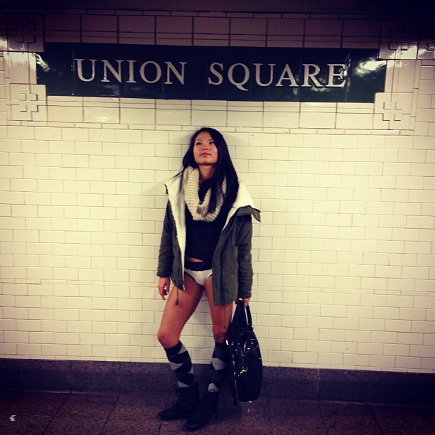 No Pants Subway Ride7