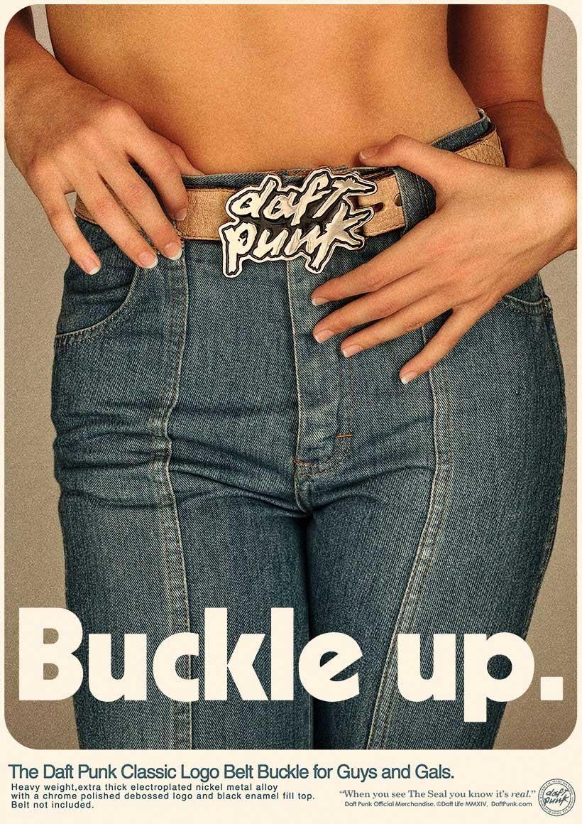 Daft Punk Logo Belt Buckle